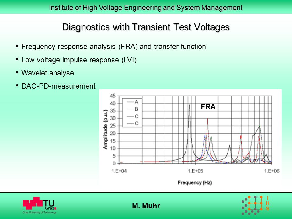 Diagnostics with Transient Test Voltages
