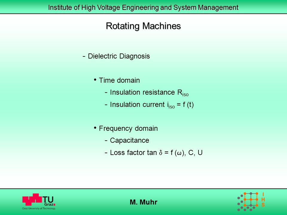 Rotating Machines Dielectric Diagnosis Time domain