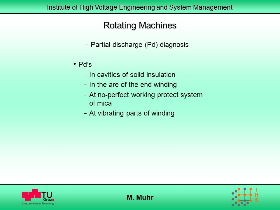 Rotating Machines Partial discharge (Pd) diagnosis Pd's