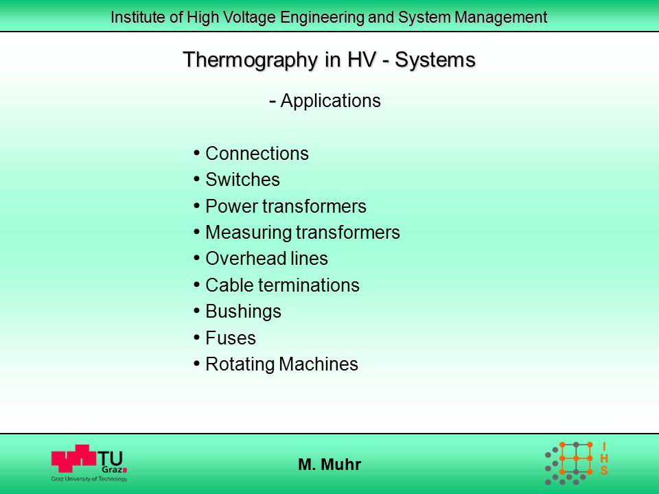 Thermography in HV - Systems