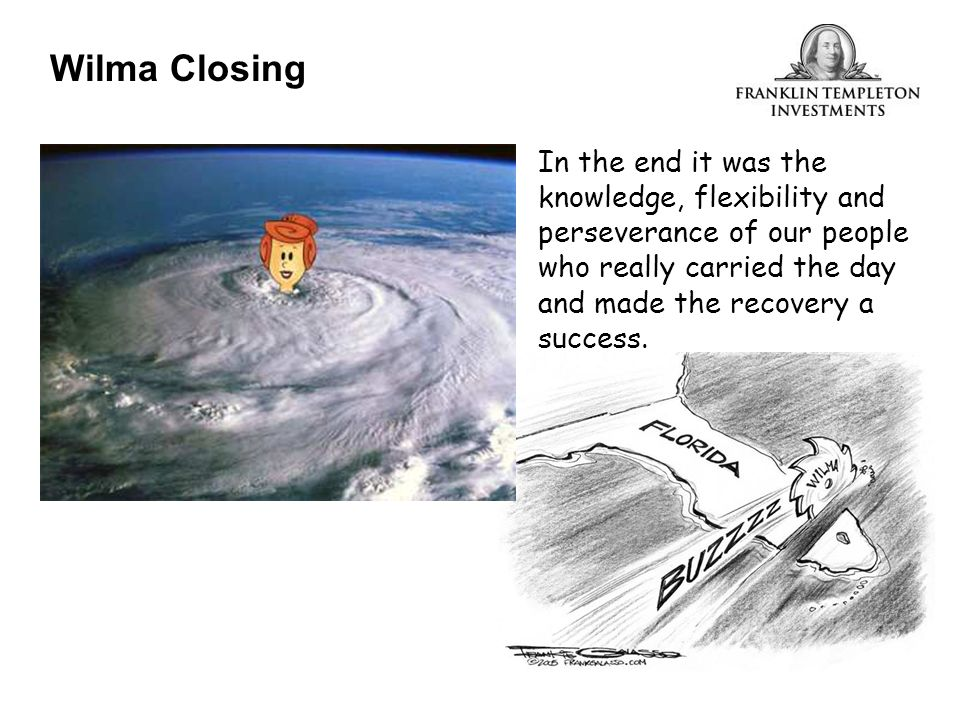 Questions Wilma Closing
