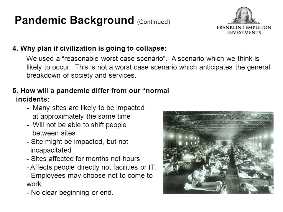 Pandemic Background (Continued)