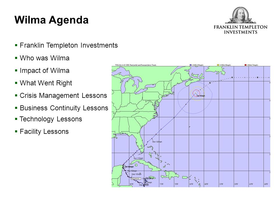 Wilma Agenda Franklin Templeton Investments Who was Wilma