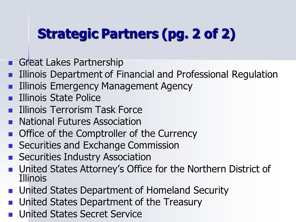 Strategic Partners (pg. 2 of 2)