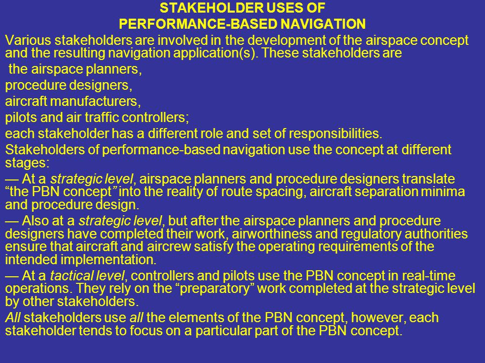 PERFORMANCE-BASED NAVIGATION