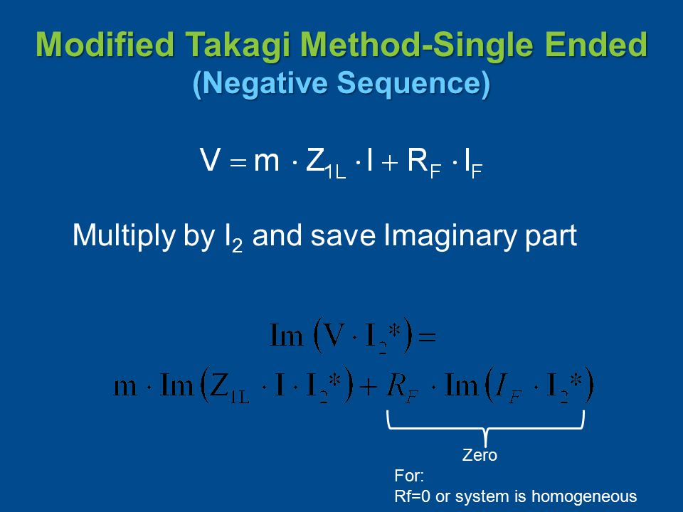 Modified Takagi Method-Single Ended (Negative Sequence)