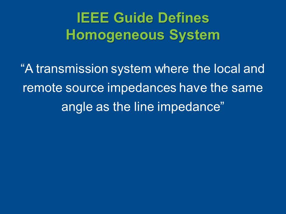 IEEE Guide Defines Homogeneous System