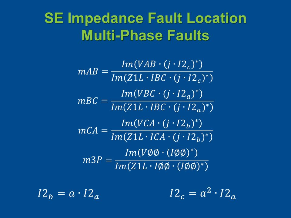 SE Impedance Fault Location Multi-Phase Faults