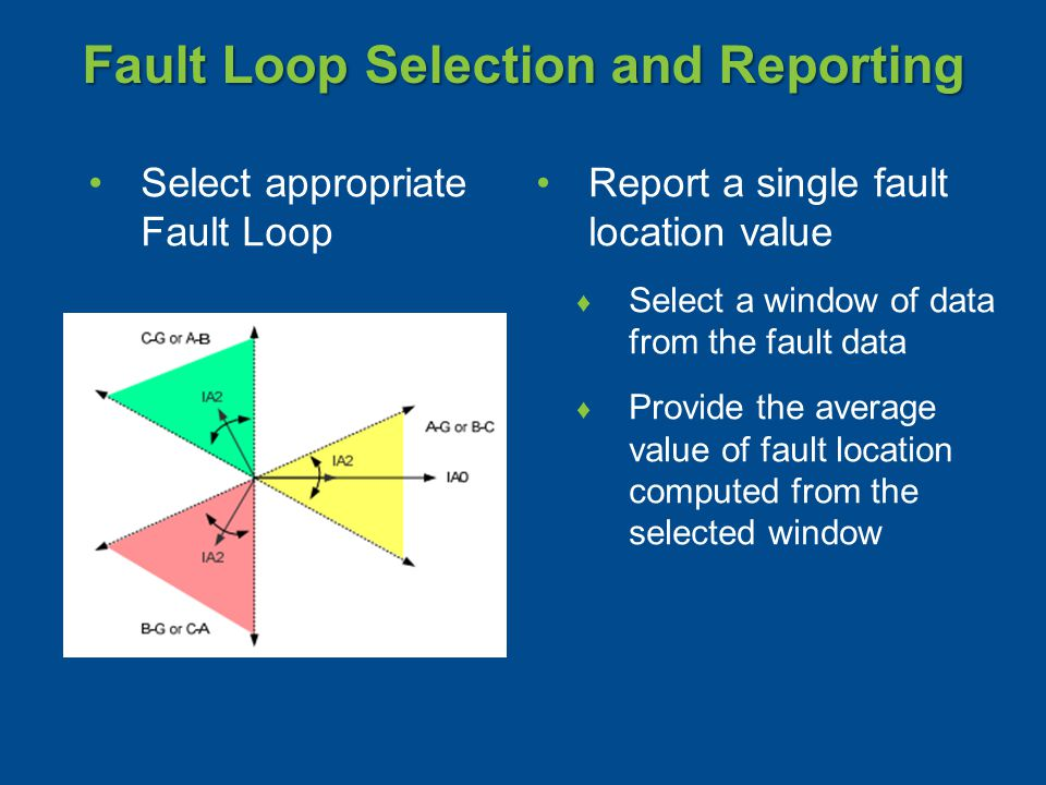 Fault Loop Selection and Reporting