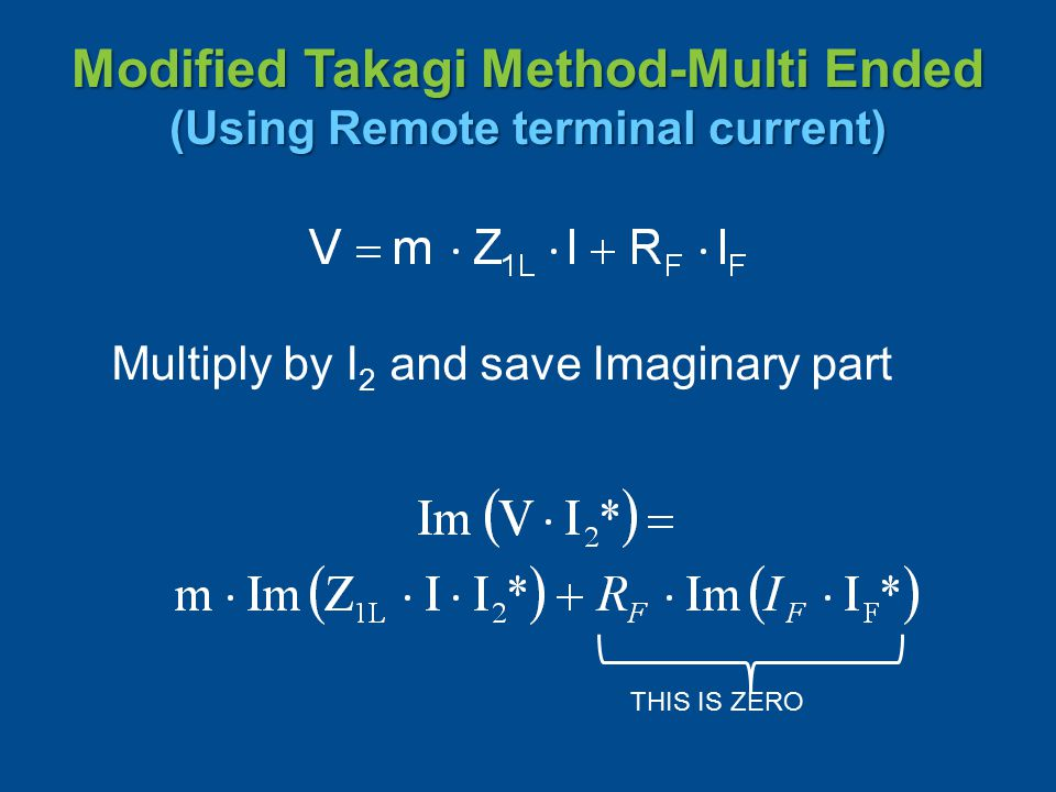 Modified Takagi Method-Multi Ended (Using Remote terminal current)