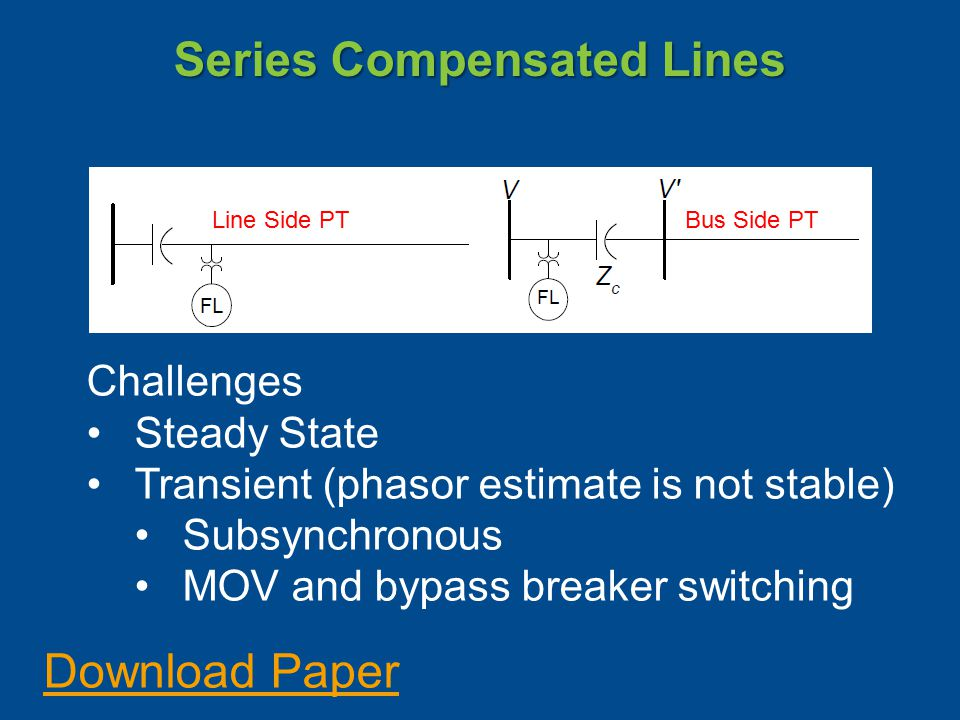 Series Compensated Lines