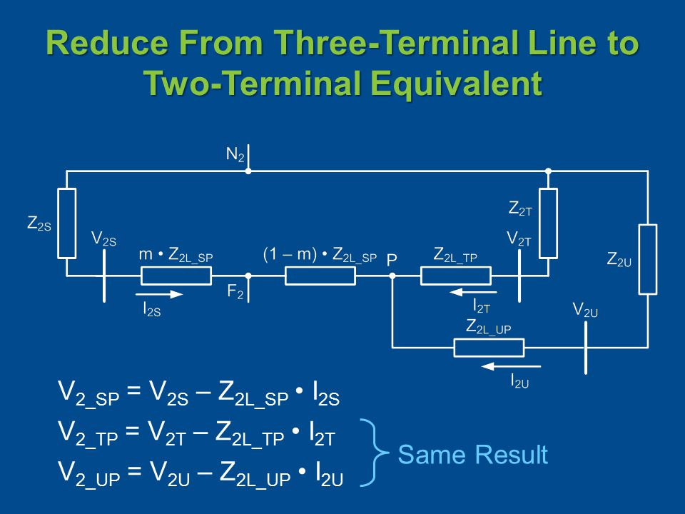 Reduce From Three-Terminal Line to Two-Terminal Equivalent