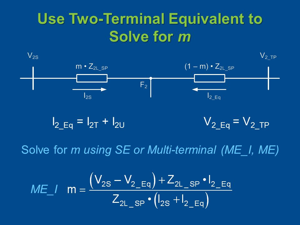 Use Two-Terminal Equivalent to Solve for m