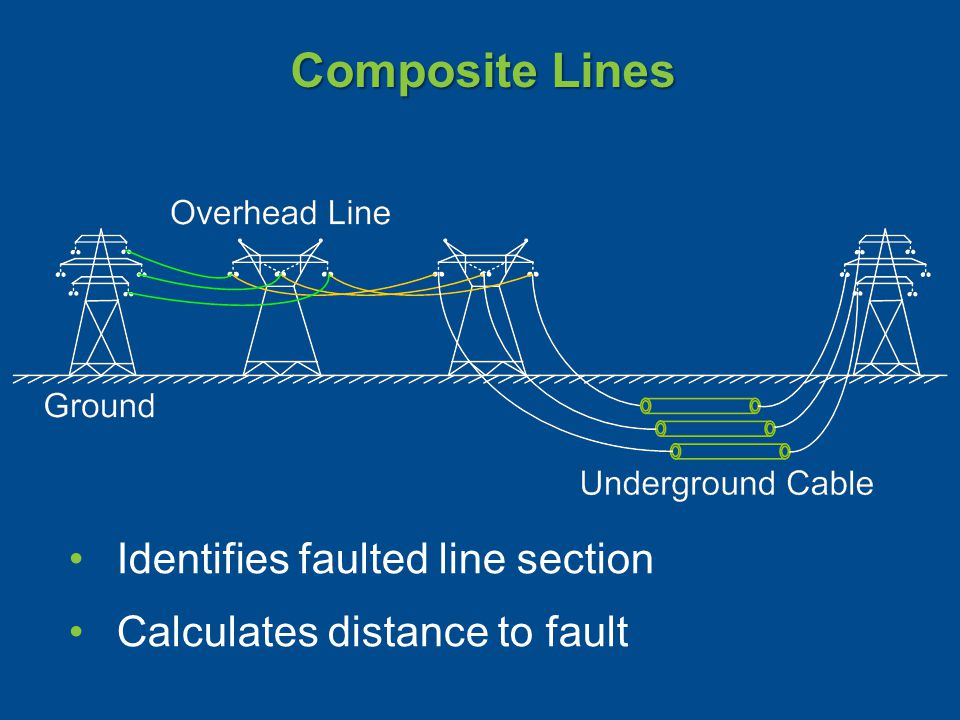 Composite Lines Identifies faulted line section