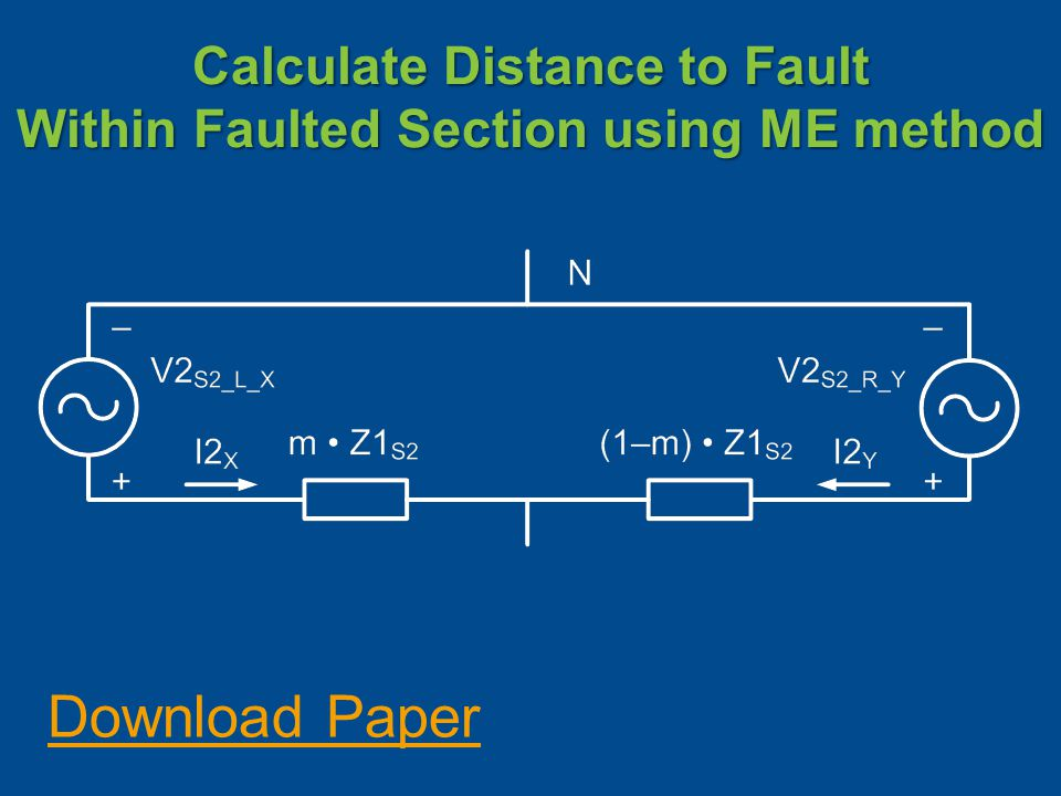 Calculate Distance to Fault Within Faulted Section using ME method