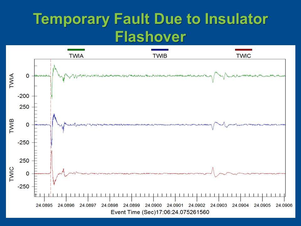 Temporary Fault Due to Insulator Flashover