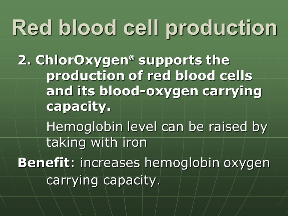 Red blood cell production