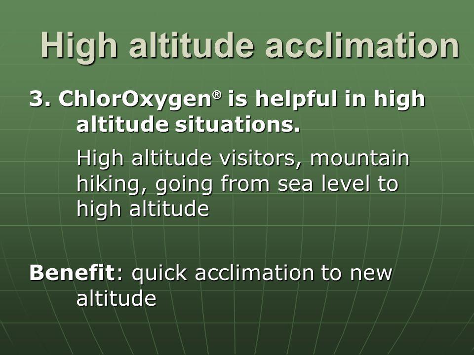 High altitude acclimation