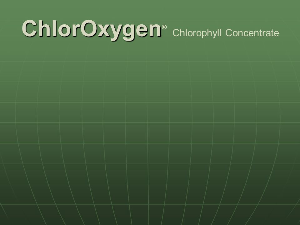 ChlorOxygen® Chlorophyll Concentrate