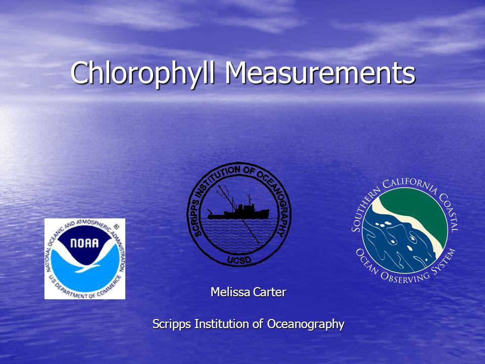 Chlorophyll Measurements
