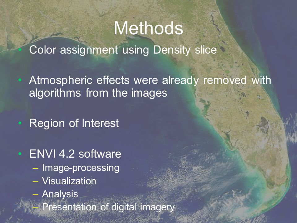 Methods Color assignment using Density slice