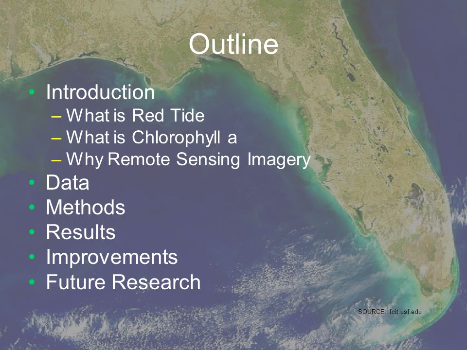 Outline Introduction Data Methods Results Improvements Future Research