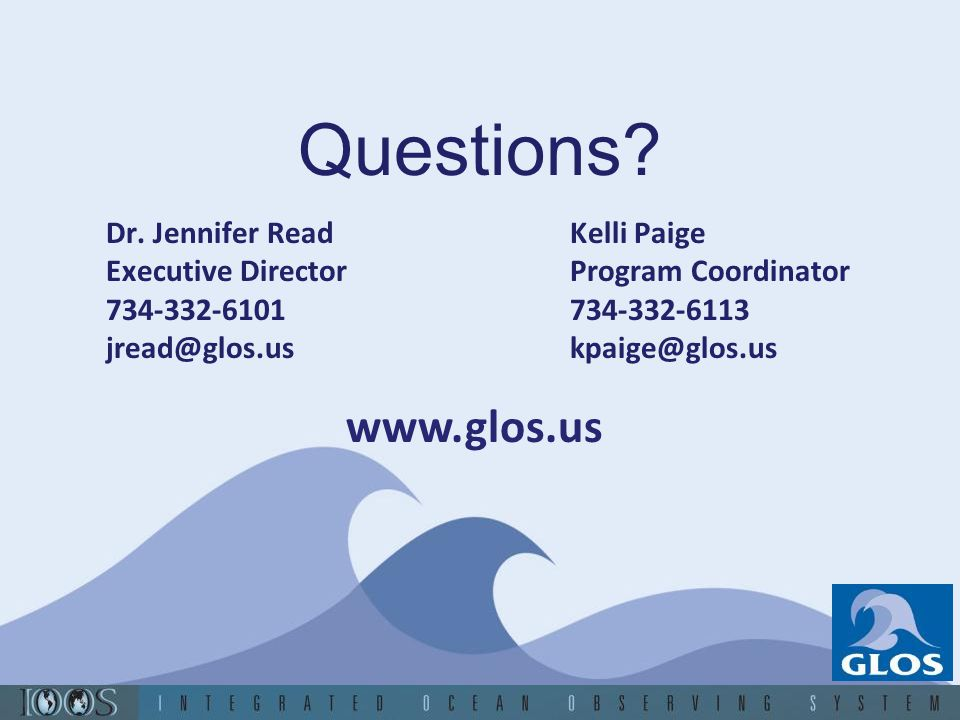Questions www.glos.us Dr. Jennifer Read Executive Director