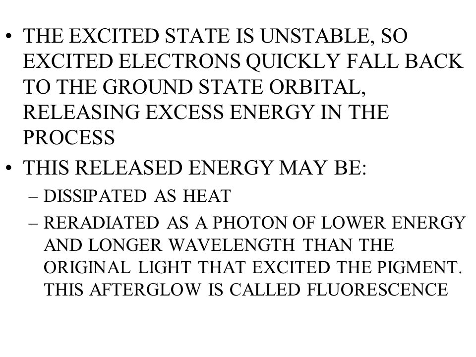 THIS RELEASED ENERGY MAY BE:
