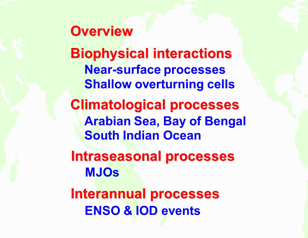 Biophysical interactions Near-surface processes