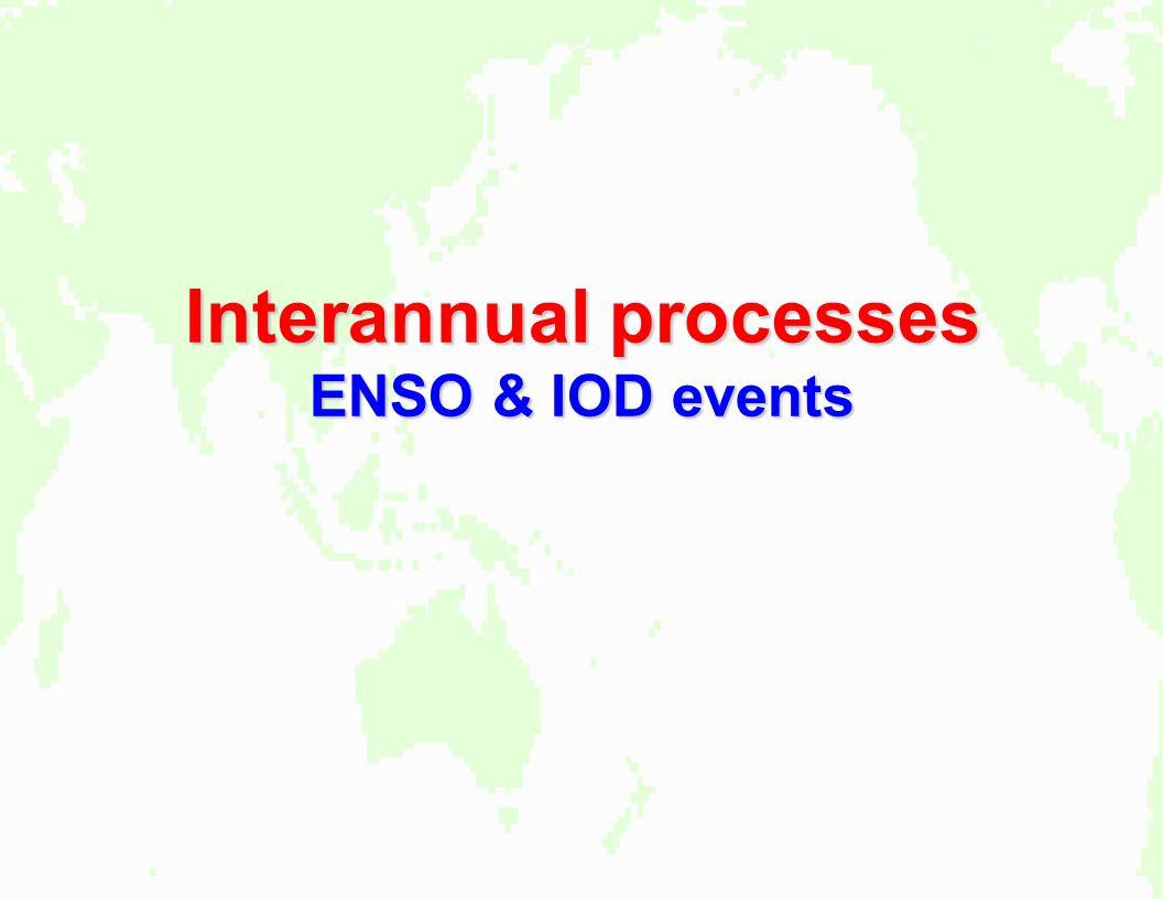 Interannual processes