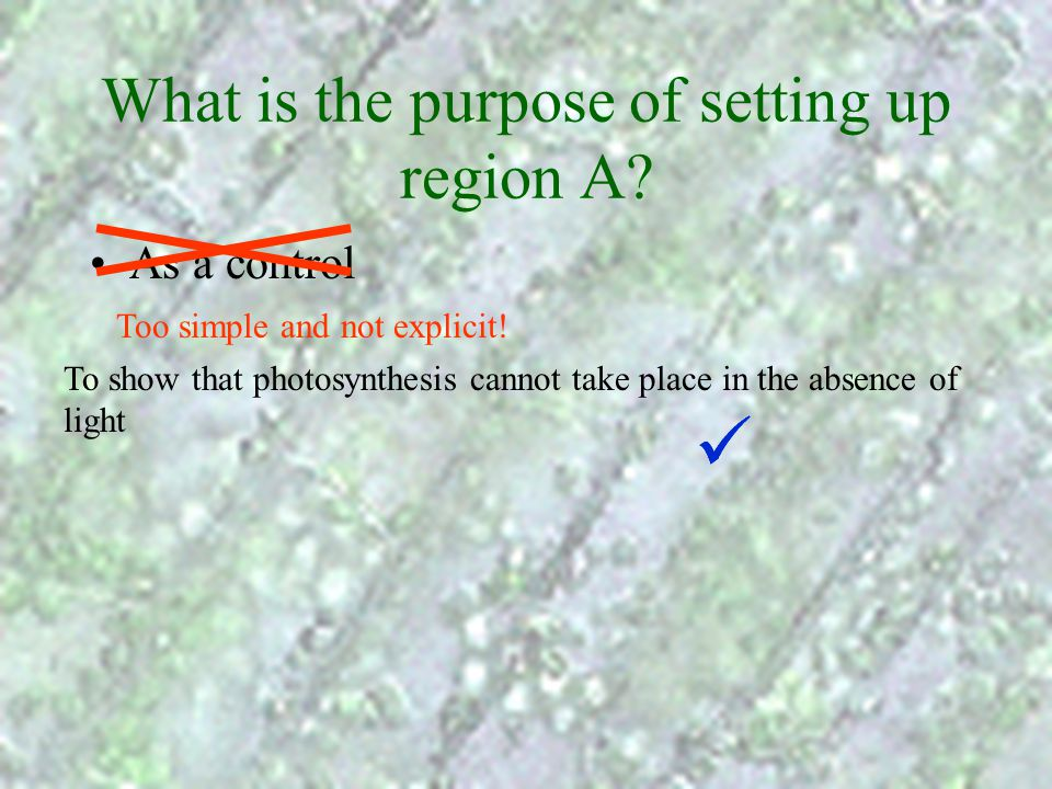 What is the purpose of setting up region A