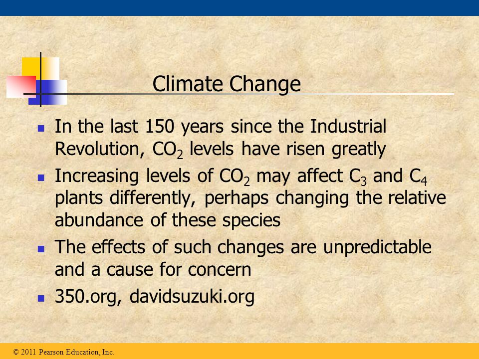 Climate Change In the last 150 years since the Industrial Revolution, CO2 levels have risen greatly.