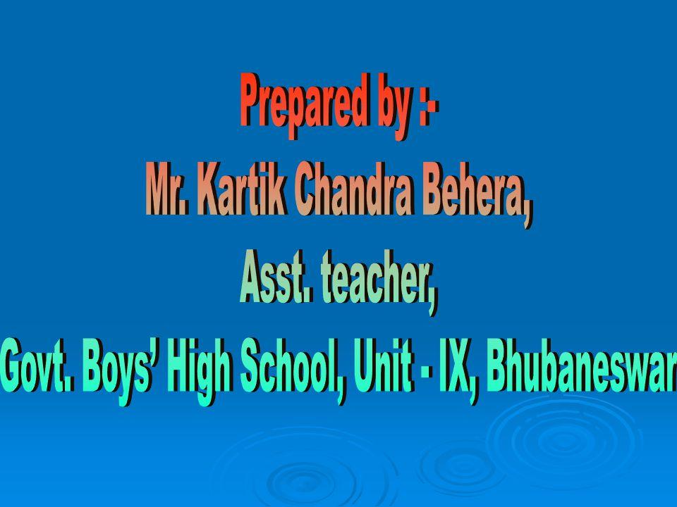 Mr. Kartik Chandra Behera, Asst. teacher,