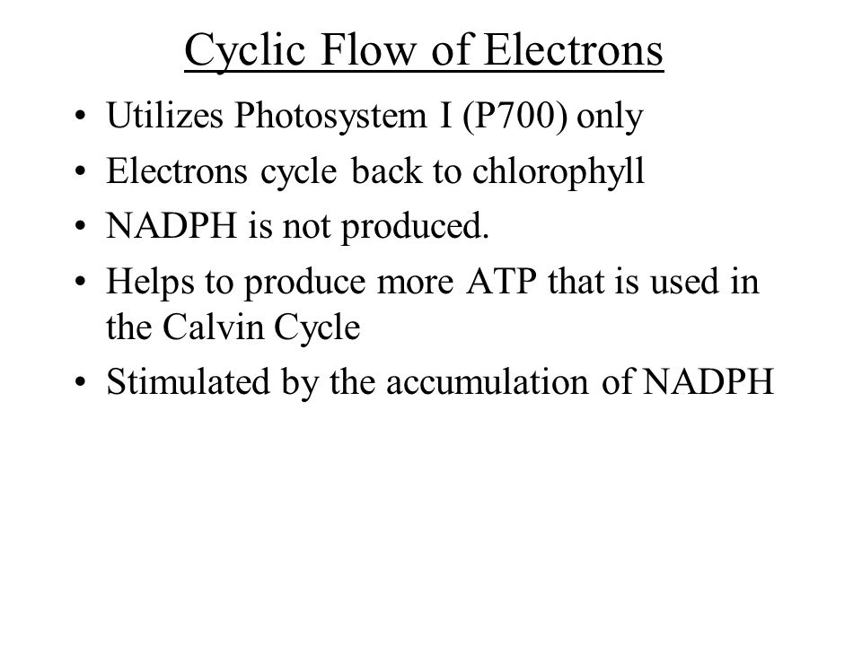 Cyclic Flow of Electrons