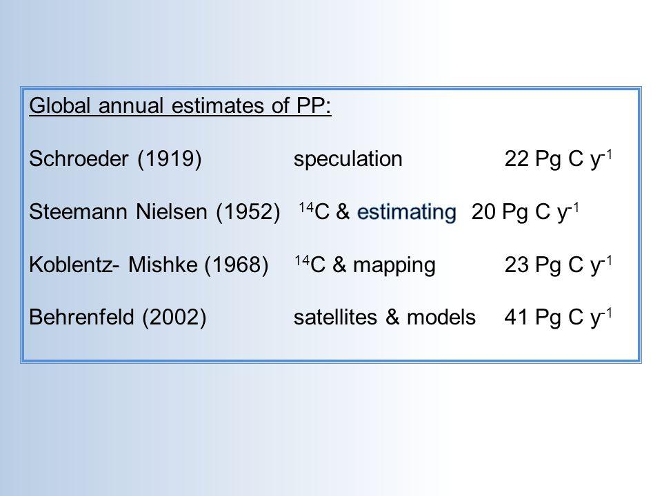 Global annual estimates of PP: