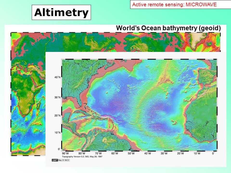 Altimetry World's Ocean bathymetry (geoid)