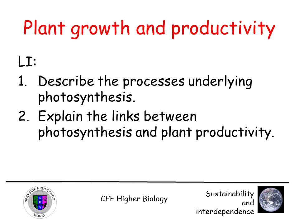 Plant growth and productivity
