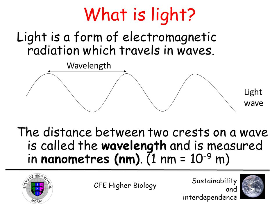 What is light Light is a form of electromagnetic radiation which travels in waves.