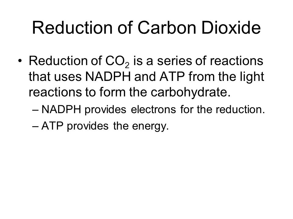 Reduction of Carbon Dioxide