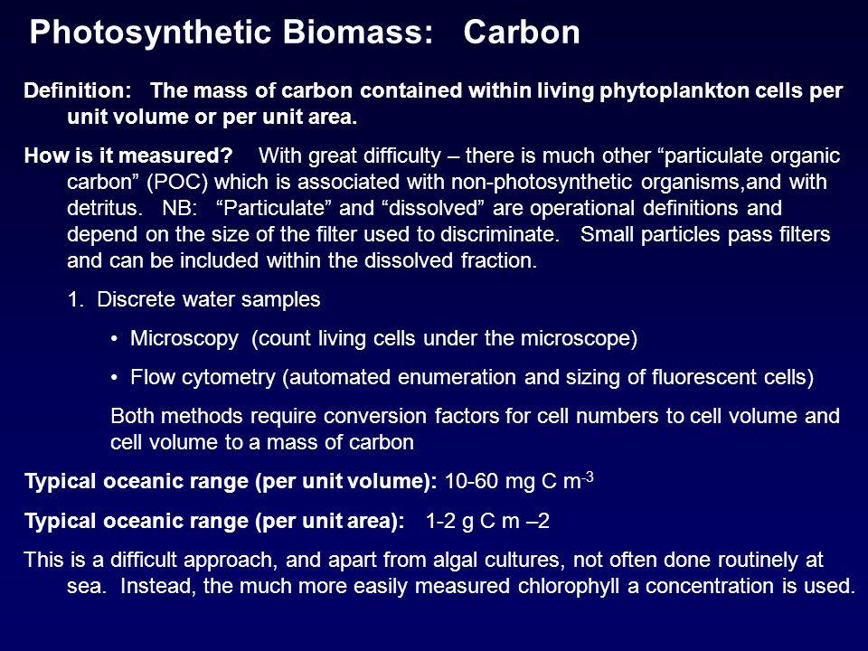Photosynthetic Biomass: Carbon