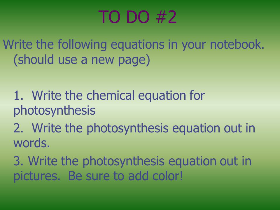 TO DO #2