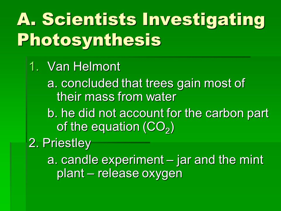A. Scientists Investigating Photosynthesis