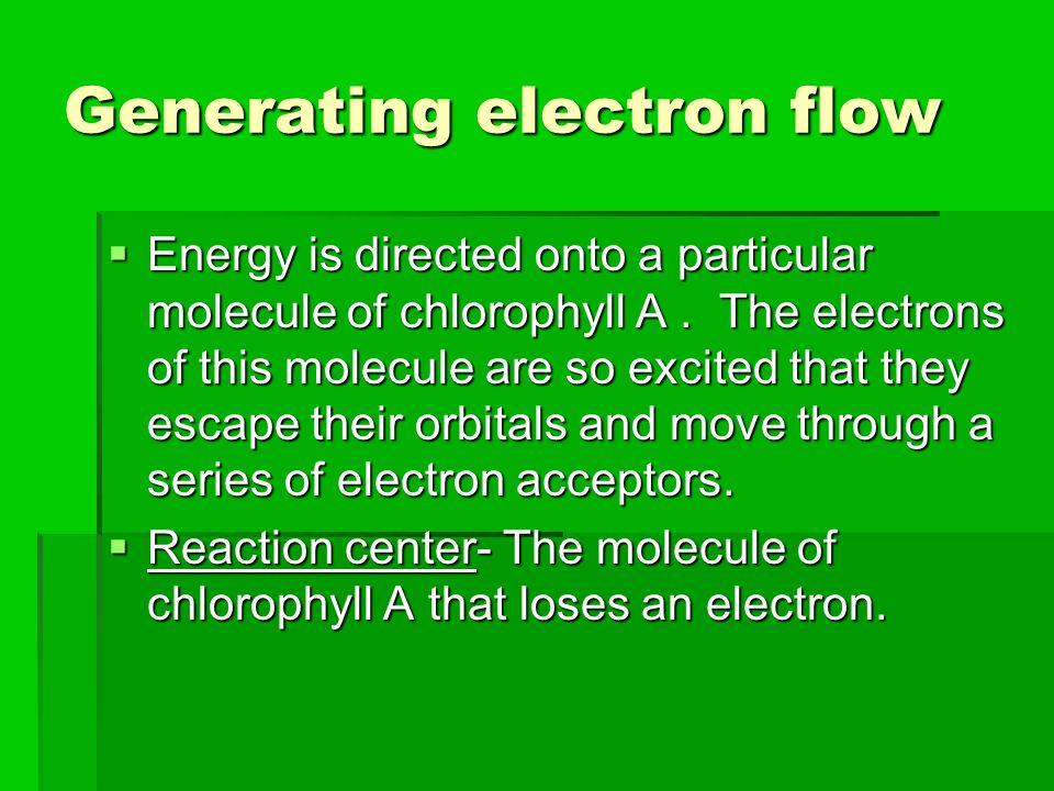 Generating electron flow
