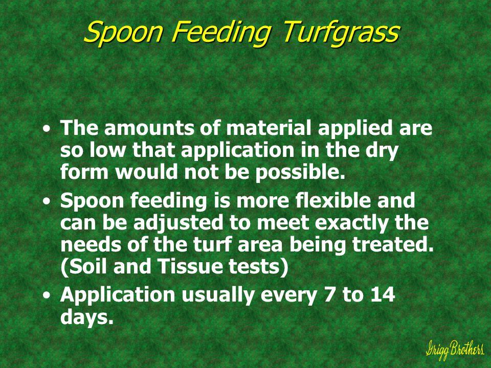 Spoon Feeding Turfgrass