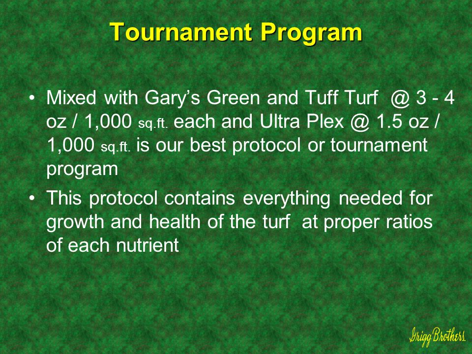 Tournament Program