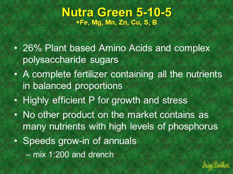 Nutra Green 5-10-5 +Fe, Mg, Mn, Zn, Cu, S, B