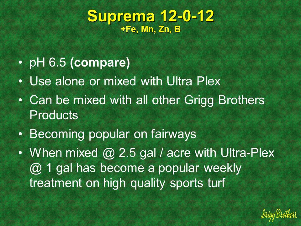Suprema 12-0-12 +Fe, Mn, Zn, B pH 6.5 (compare)