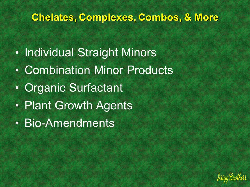 Chelates, Complexes, Combos, & More