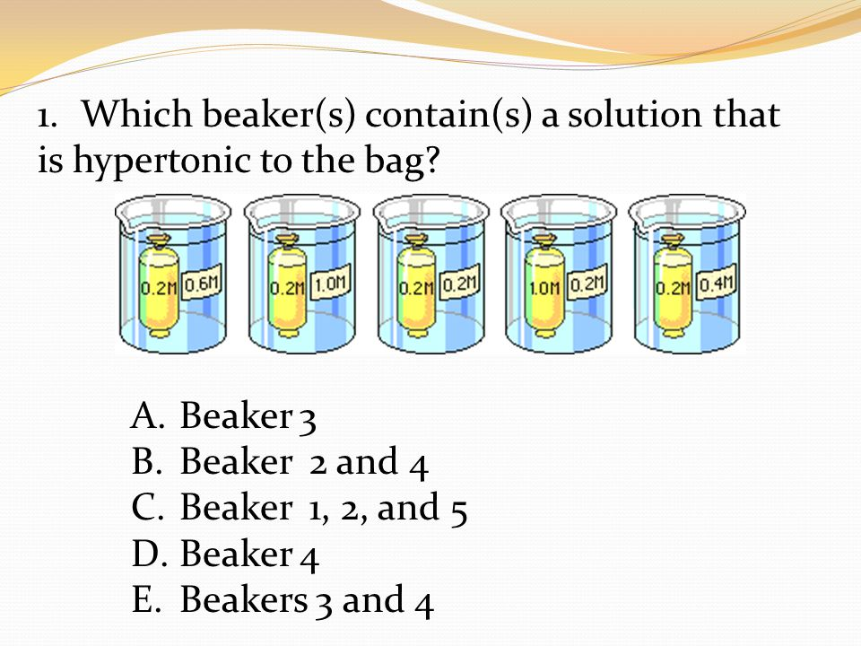 Which beaker(s) contain(s) a solution that