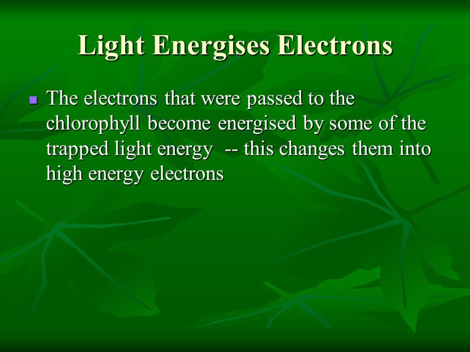 Light Energises Electrons